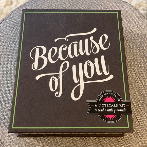 "Anthropologie Other - 💖NWT ""Because of You""gratitude card set. 💖"